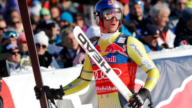 Speed-Spezialist Aksel Svindal. Der 30-jährige Norweger zählt in den Speeddisziplinen und der Super-Kombination zu den Topfavoriten.