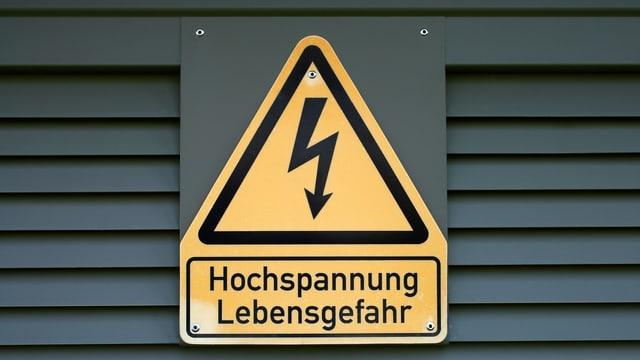 Achtung-Schild