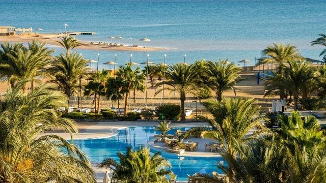 Pool-Anlage im Klub Paradisio Hotel El Gouna, Ägypten.