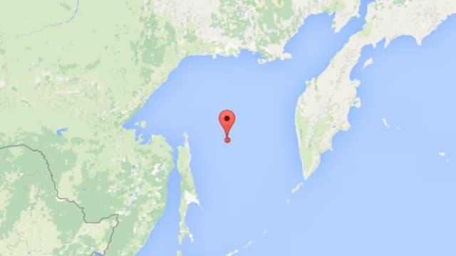 carta geografica cun la Mar Ochotschka