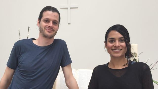 Journalist Peter Stäuber aus St. Gallen und die Engländerin Sheena Sumaria, die in der Filmbranche arbeitet.
