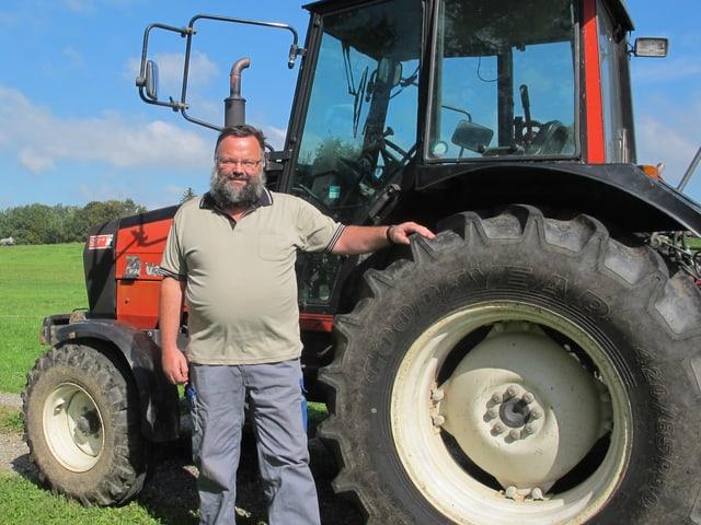 Landwirt Stefan Kaufmann aus Wetzikon.