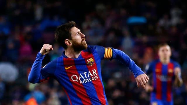 Lionel Messi trifft auch gegen Osasuna doppelt.