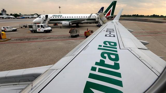 Flugzeuge der Fluggesellschaft Alitalia.