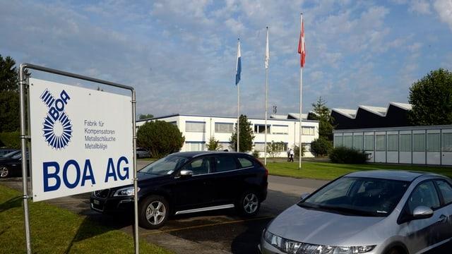 Das Gelände der Boa AG in Rothenburg.