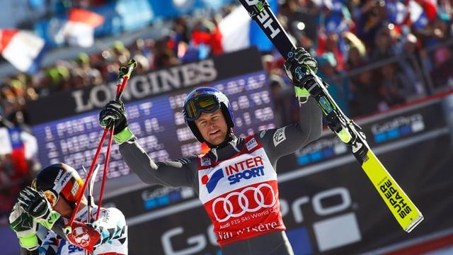 Alexis Pinturault en l'arrivada a Val d'Isère.
