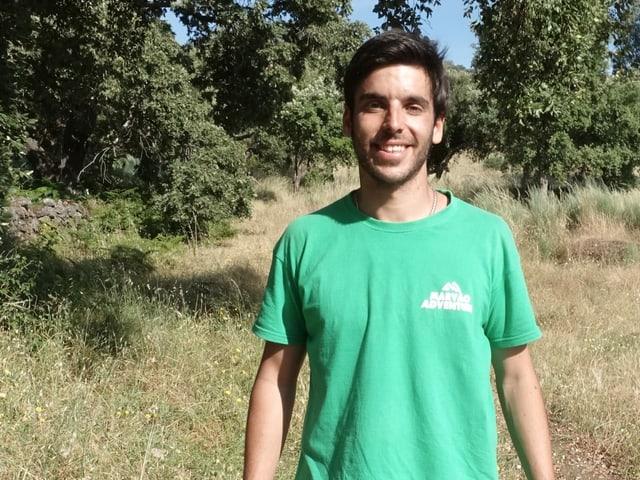 Der Portugiese Afonso Melara steht in der Nähe der spanischen Grenze.