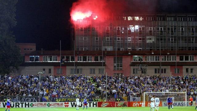 Atmosphäre im Satdion von Zenica