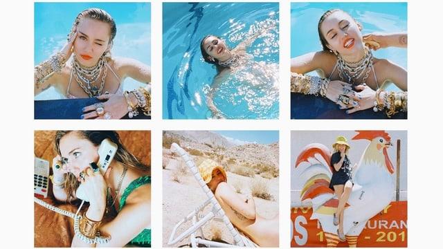 Immer wieder und immer nur Miley (Ausschnitt aus Miley Cyrus' Instagram-Account)