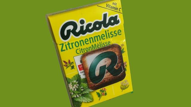 Ein Päckli Ricola-Zitronenmelisse-Bonbons
