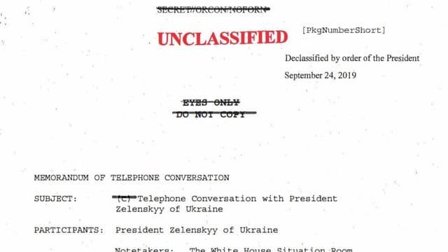 Die Abschrift des Telefongesprächs wurde freigegeben und publiziert.