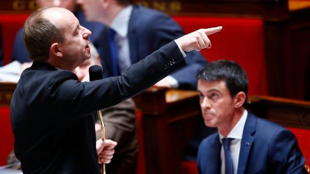 Frankreich neuer Justizminister Urvoas (links) und Premier Manuel Valls.