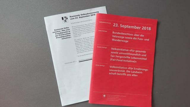 Das Bündner Abstimmungsbüchlein soll auch so modern und übersichtlich werden wie das neue Abstimmungsbüchlein des Bundes.