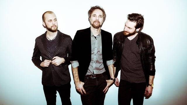 Die 3 Bandmitglieder der Bieler Rock-Band Modern Day Heroes
