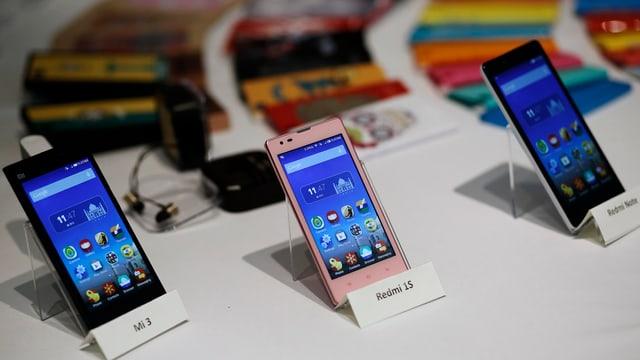Drei Xiaomi-Smartphones