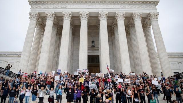 Protestierende vor dem Kapitol in Washington