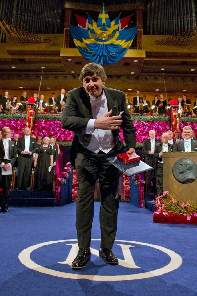 Andre Geim nach der Verleihung des Nobelpreises für Physik im Dezember 2010 in Stockholm.