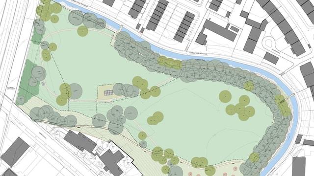 Plan des neuen Schwarzparks