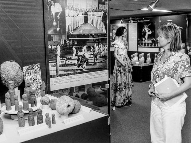 Archivbild aus einer Austellung im Jahr 1986.