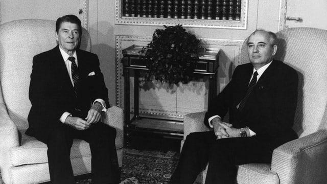 Ronald Reagan und Michail Gorbatschow