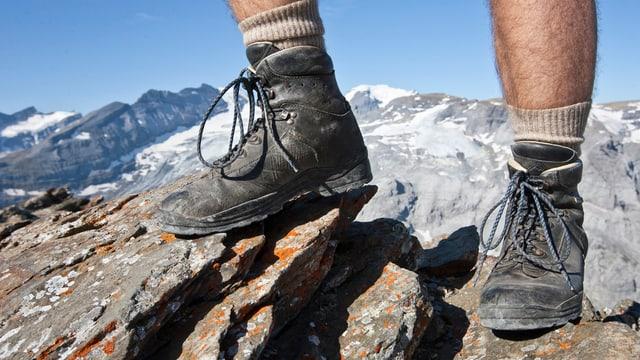 Sicheren Schrittes der Hütte entgegen: nur dank stetiger Wartung der sich verändernden Bergwege möglich.