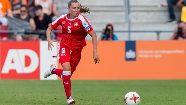 Noëlle Maritz in der Partie gegen Österreich.