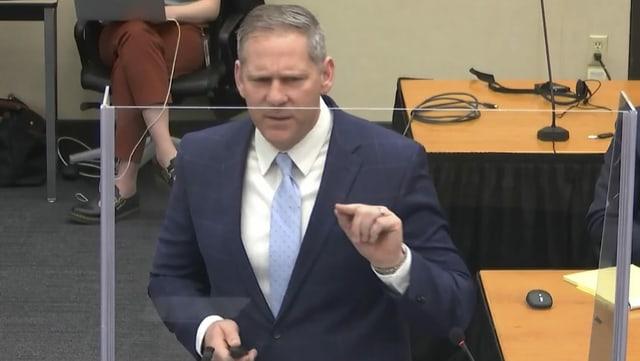 Staatsanwalt Steve Schleicher schliesst am Montag, 21. April sein Pladoyer ab: