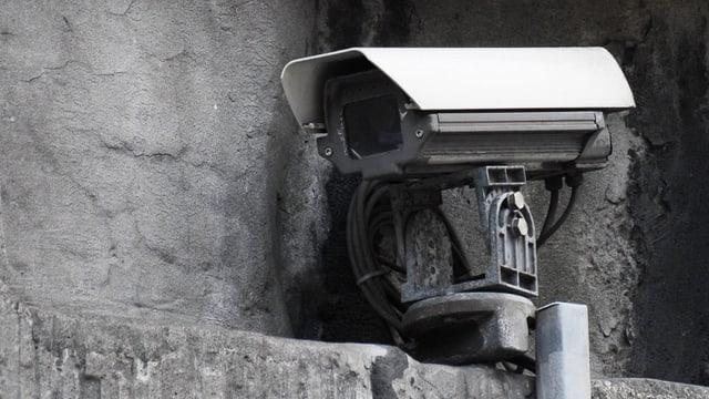 Eine Videoüberwachungskamera.