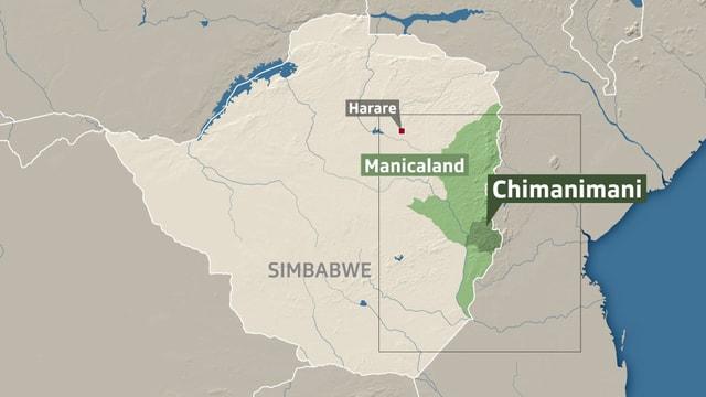 In Simbabwe ist die Region Chimanimani besonders von «Idai» betroffen.