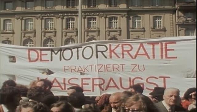 Demonstraziun a Berna encunter in ovra atomara a Kaiseraugst 26.04.1975
