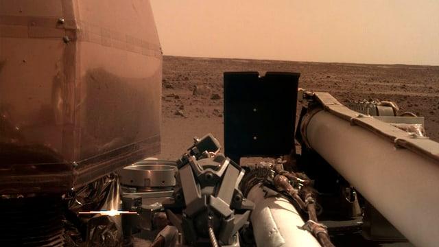 Foto, das die Marsoberfläche zeigt.