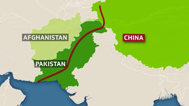 Karte mit der Streckenführung.