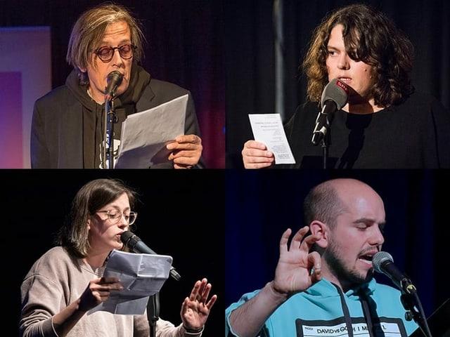 Die Mundart boomt und immer mehr Personen schreiben Texte im Dialekt und bringen diese auf die Bühne. Sie messen sich an Poetry Slams und treten als Spoken-Word-Künstler auf. Diese Autoren werden sie in der Schnabelweid vorgestellt. Hier Beispiele aus vier Dialektregionen: Pedro Lenz, Patti Basler, Lisa Christ und Renato Kaiser.