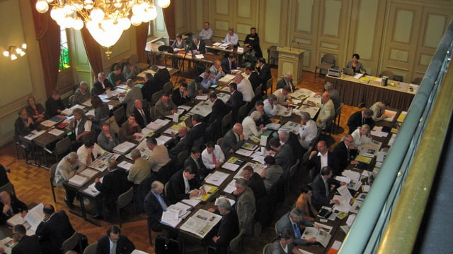 Ratsaal des Grossen Rates Thurgau.