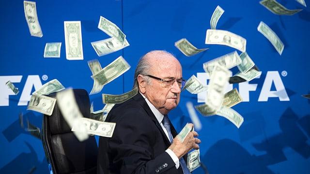 L'anteriur president da la Fifa Sepp Blatter.
