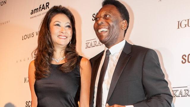 Marcia Cibele Aoki und Pelé.