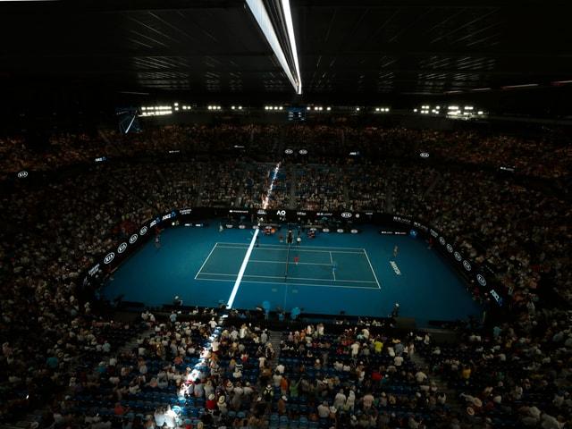 An den Australian Open gibt es drei Courts mit schliessbaren Dächern.