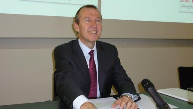 Markus Hongler, CEO der Mobiliar-Versicherung, ist mit dem Geschäftsjahr 2012 zufrieden