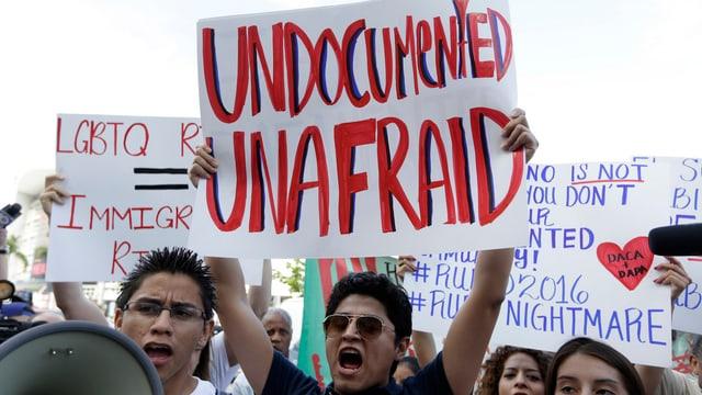 Befürworter der Einwanderungsreform bei einer Kundgebung in Miami im April.