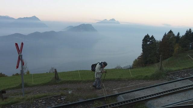 Wandert jede Woche einmal auf die Rigi – Hansjörg Müller (97) aus Emmenbrücke.