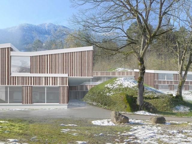 Visualisierung des geplanten heilpädagogischen Zentrums Innerschwyz.