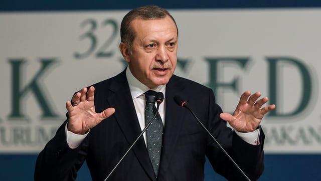 Il president tirc Recep Erdogan declera che questa resoluziun na valia nagut.