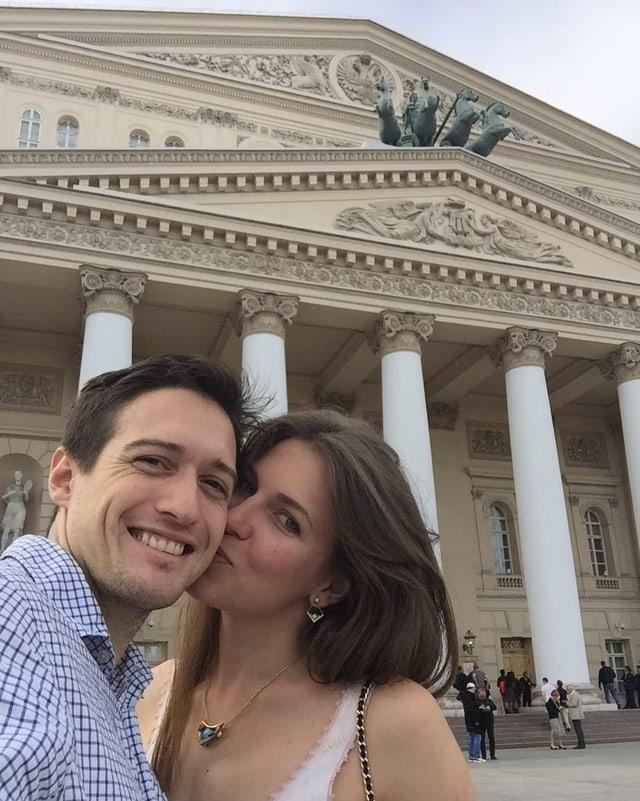 Besuchen gerne das Bolshoi-Theater: Svetlana und Keiran