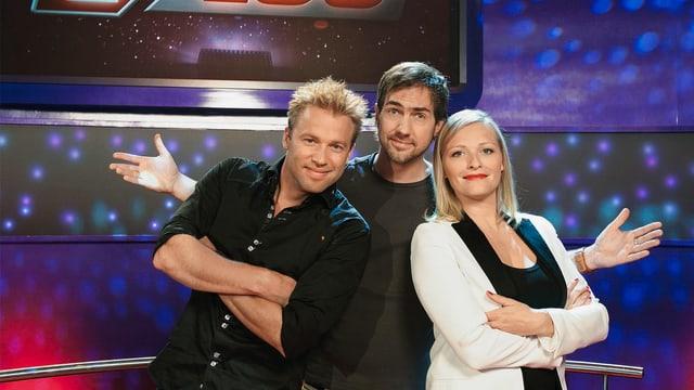 Das Titelbild für die Spezialsendung, mit Jonny Fischer, Manu Burkart und Susanne Kunz