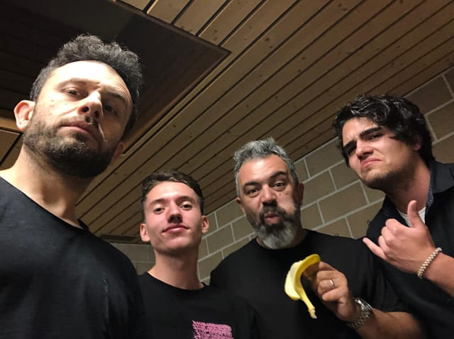 Lucas Batista cun Quim Roscas e Zeca Estacionançio