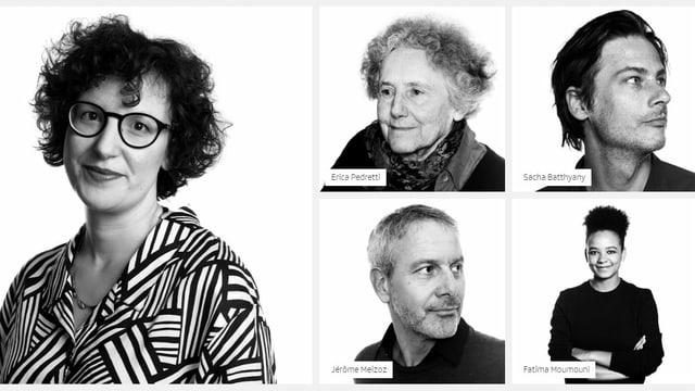 verschiedene Porträts in schwarzweiss