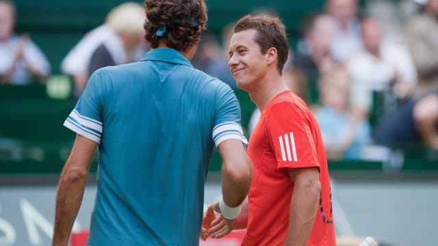 Roger Federer und Philipp Kohlschreiber beim Shakehands.