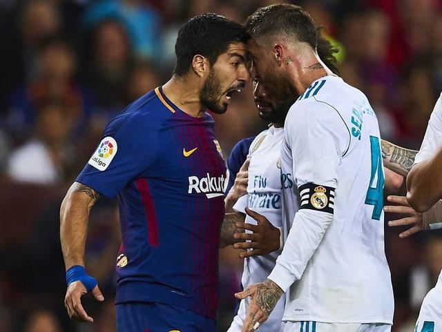 Suarez und Ramos geraten aneinader.
