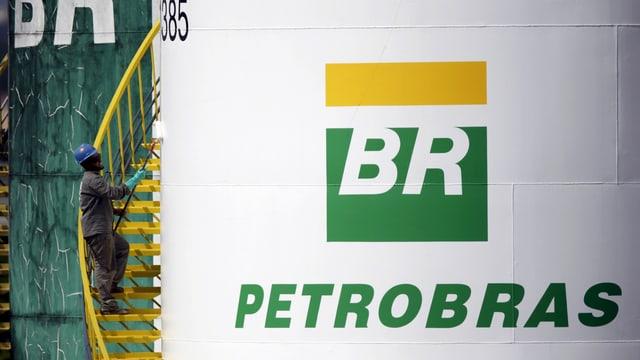 Zisterne des brasilianischen Erdölkonzerns Petrobras.