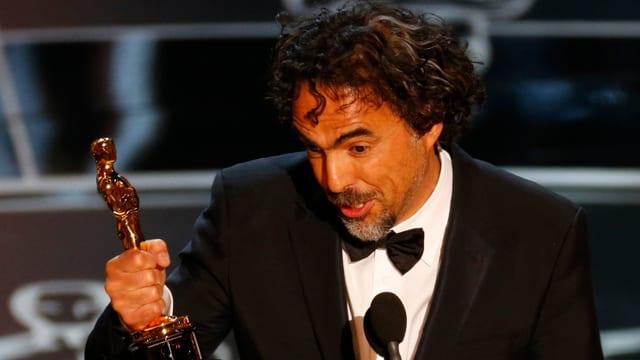 Alejandro Inarritu mit seinem zweiten Oscar